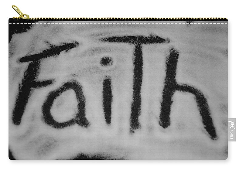 Black And White Carry-all Pouch featuring the photograph Faith by Rob Hans