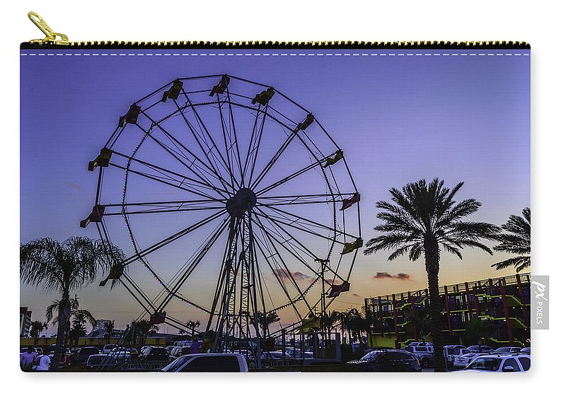 Blue Carry-all Pouch featuring the photograph Fajitaville Ferris Wheel 2 by Leticia Latocki