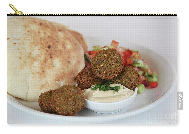Plate Carry-all Pouch featuring the photograph Falafel Balls by PhotoStock-Israel