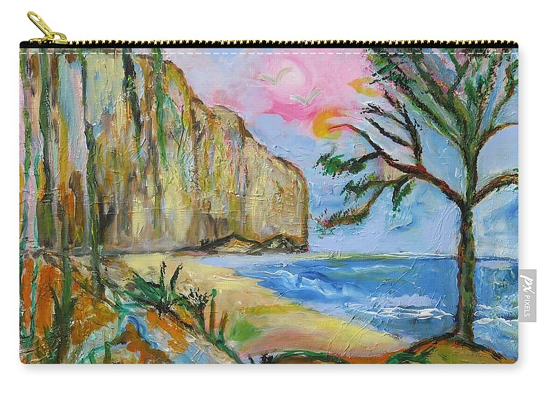 Expressionnisme Carry-all Pouch featuring the painting Falaise by Myriam COURTY