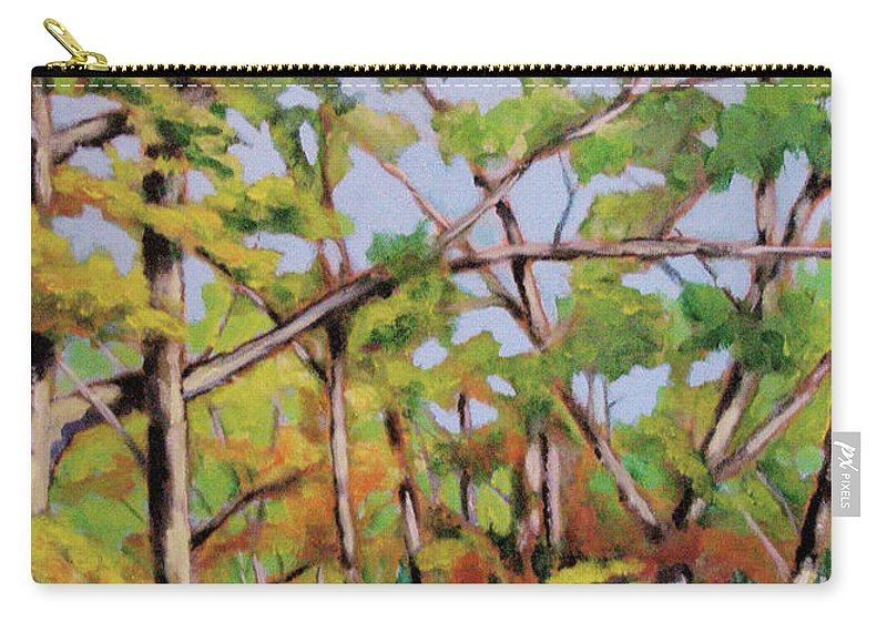 Trees Carry-all Pouch featuring the painting Fall 2 by Robert Gurgul