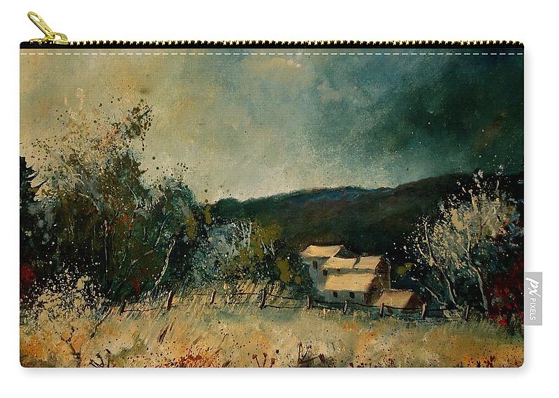Village Carry-all Pouch featuring the painting Fall 4590 by Pol Ledent