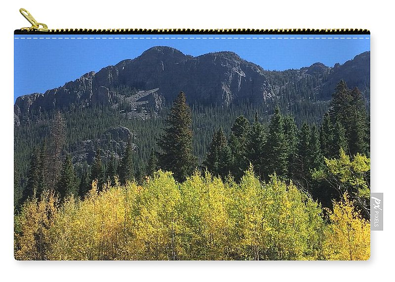 Landscape Carry-all Pouch featuring the photograph Fall At Twin Sisters by Kristen Anna