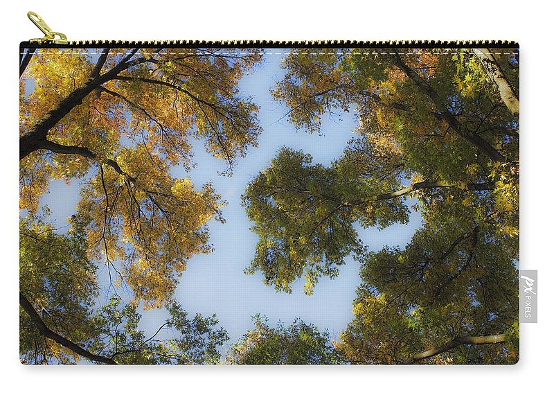 Fall Carry-all Pouch featuring the photograph Fall Canopy In Virginia by Teresa Mucha