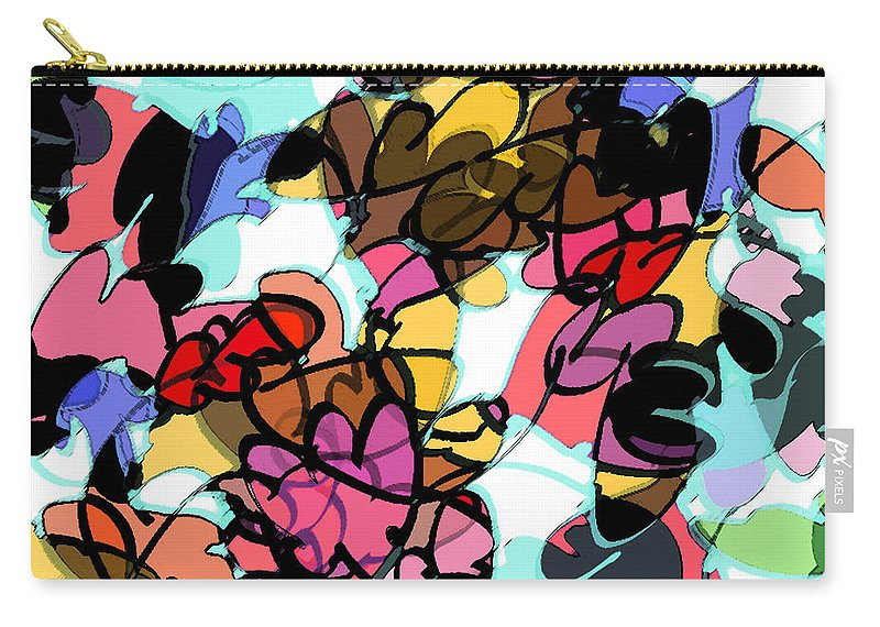 Abstract Carry-all Pouch featuring the digital art Fall Cartoon by Rachel Christine Nowicki