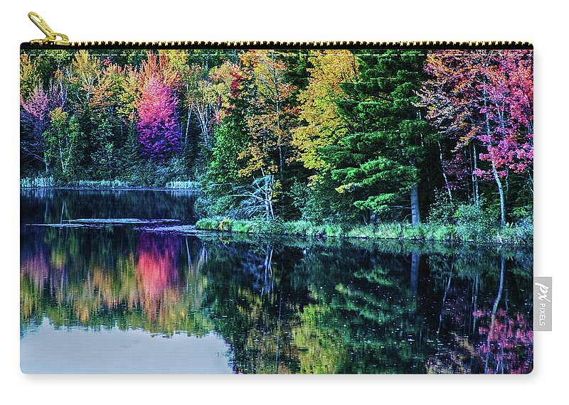 Fall Carry-all Pouch featuring the photograph Fall Color Explosion by Tommy Anderson