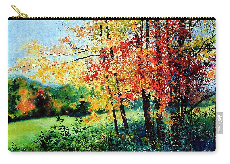 Fall Landscape Art Carry-all Pouch featuring the painting Fall Color by Hanne Lore Koehler