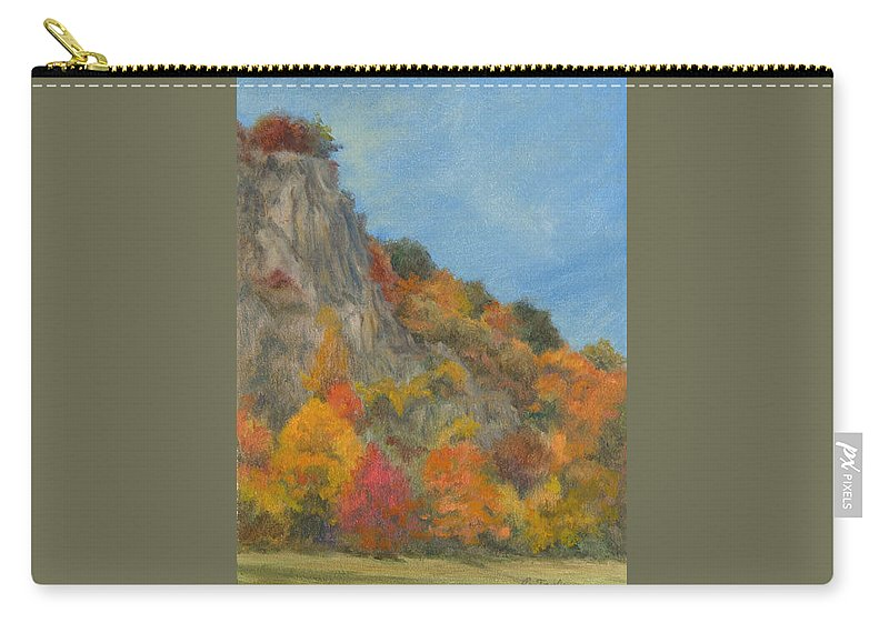 Oil Landscape Carry-all Pouch featuring the painting Fall Colors At Hook Mountain by Phyllis Tarlow