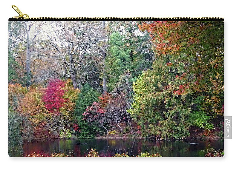 Fallcolors Carry-all Pouch featuring the photograph Fall Colors by Deborah England