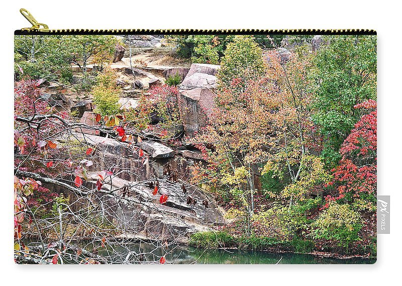Elephant Carry-all Pouch featuring the photograph Fall Colors In Depth by Larry Jost