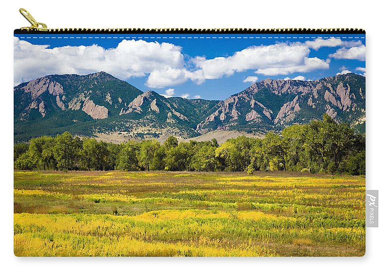 Americana Carry-all Pouch featuring the photograph Fall Colors of Boulder Colorado by Marilyn Hunt