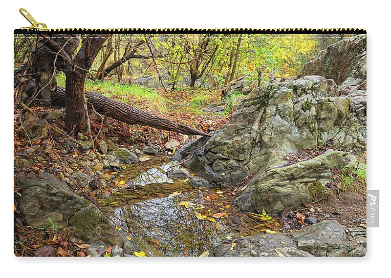 Fall Carry-all Pouch featuring the photograph Fall Creek View by Alan Raasch