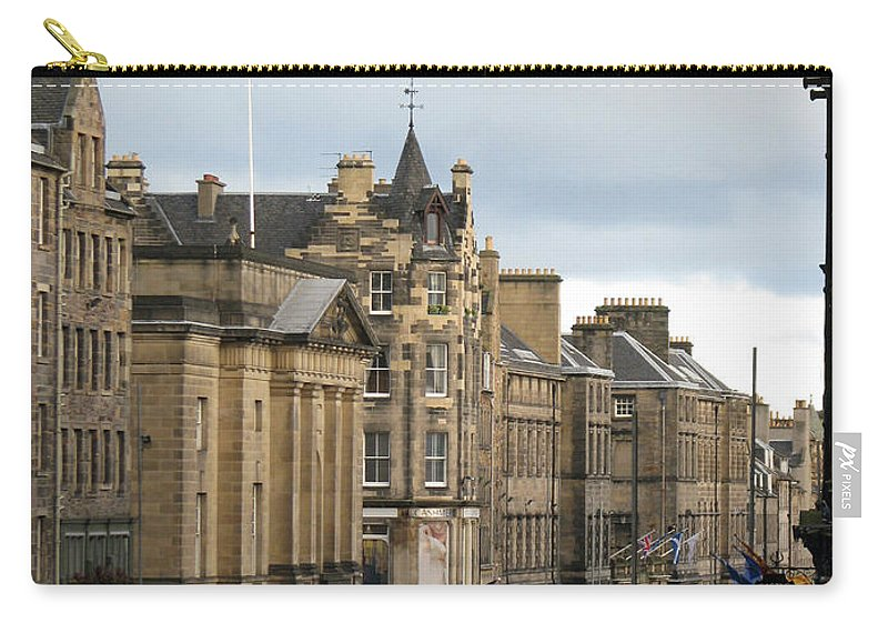 Edinburgh Carry-all Pouch featuring the photograph Fall Day In Edinburgh by Amanda Barcon