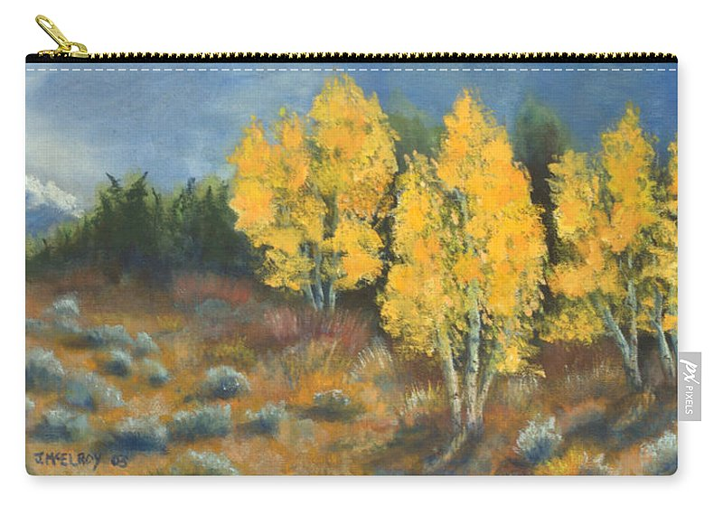 Landscape Carry-all Pouch featuring the painting Fall Delight by Jerry McElroy