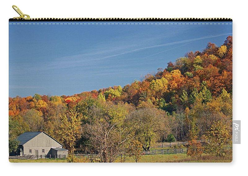 Autumn Carry-all Pouch featuring the photograph Fall Farmyard by Maria Keady