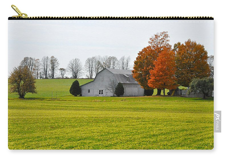 Fall Carry-all Pouch featuring the photograph Fall Field by Tim Nyberg