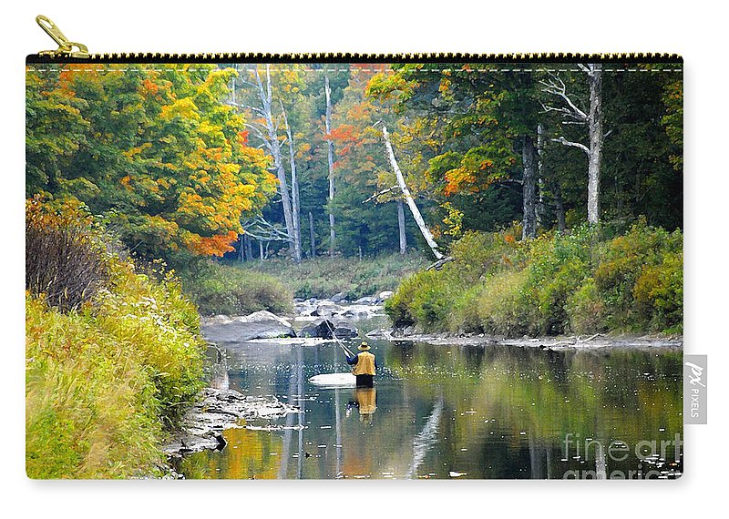 Fall Carry-all Pouch featuring the photograph Fall Fishing by David Lee Thompson