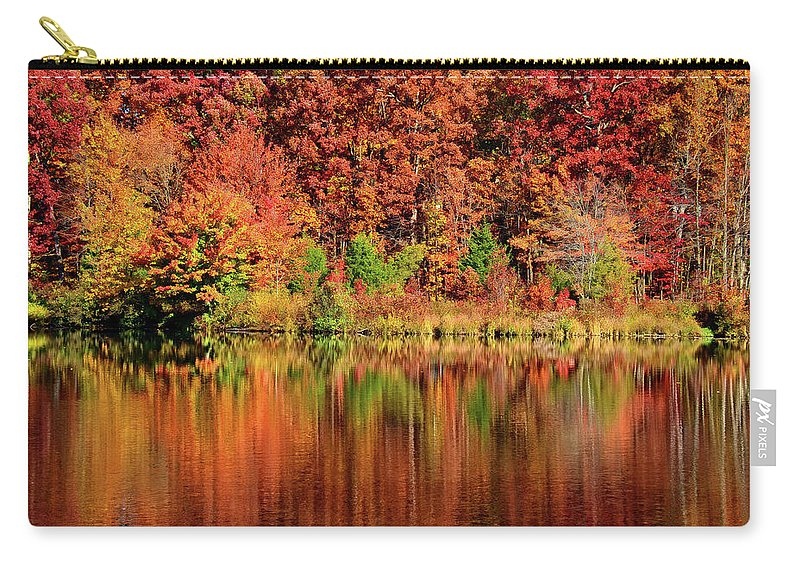 Fall Carry-all Pouch featuring the photograph Fall Foliage by Ronda Ryan