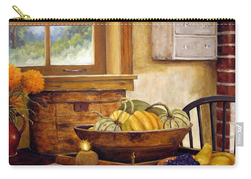 Fall Carry-all Pouch featuring the painting Fall Harvest by Richard T Pranke
