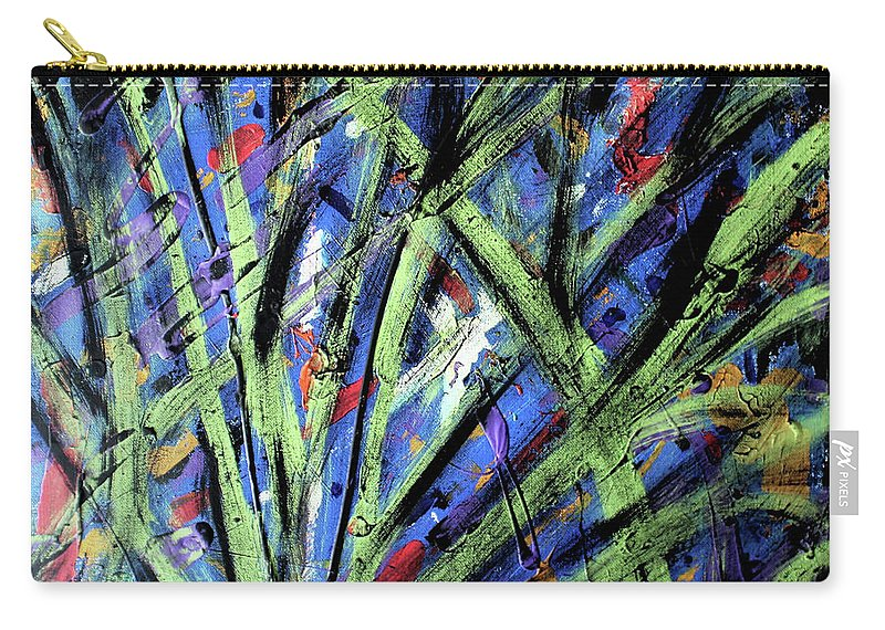 Abstract Carry-all Pouch featuring the painting Fall Haze by Pam Roth O'Mara