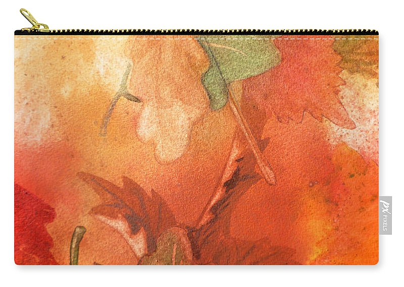 Fall Carry-all Pouch featuring the painting Fall Impressions V by Irina Sztukowski