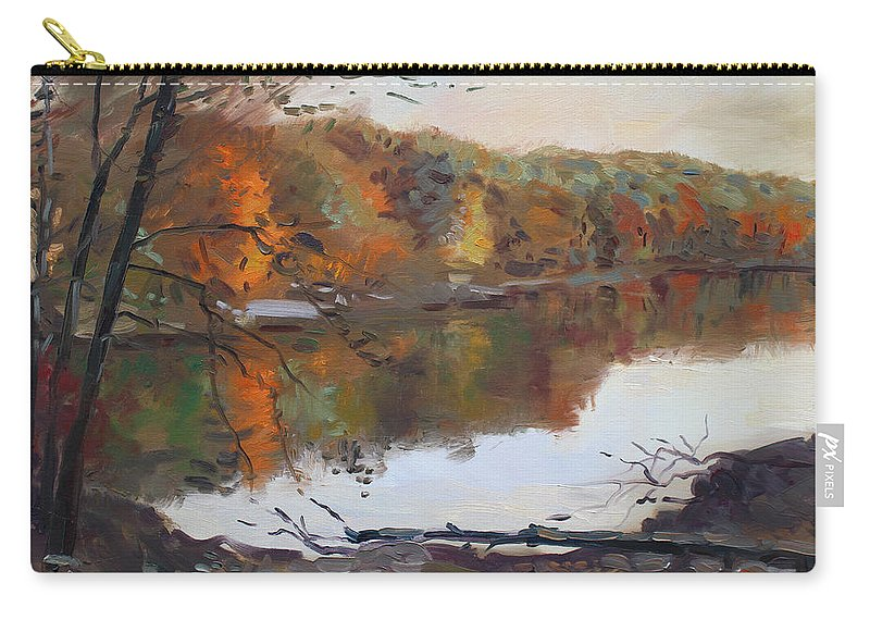 Landscape Carry-all Pouch featuring the painting Fall In 7 Lakes by Ylli Haruni