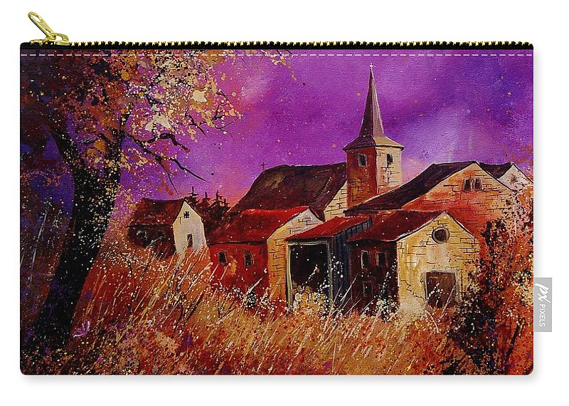 Village Carry-all Pouch featuring the painting Fall In Ardennes by Pol Ledent