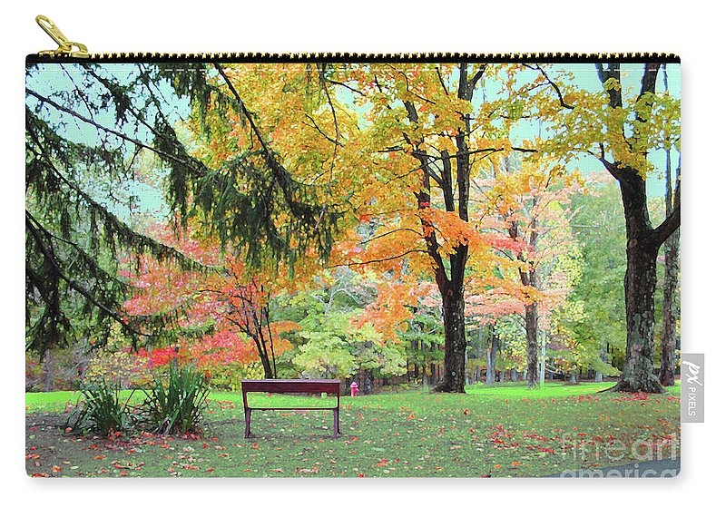 Brown County Carry-all Pouch featuring the photograph Fall In Brown County by Jost Houk