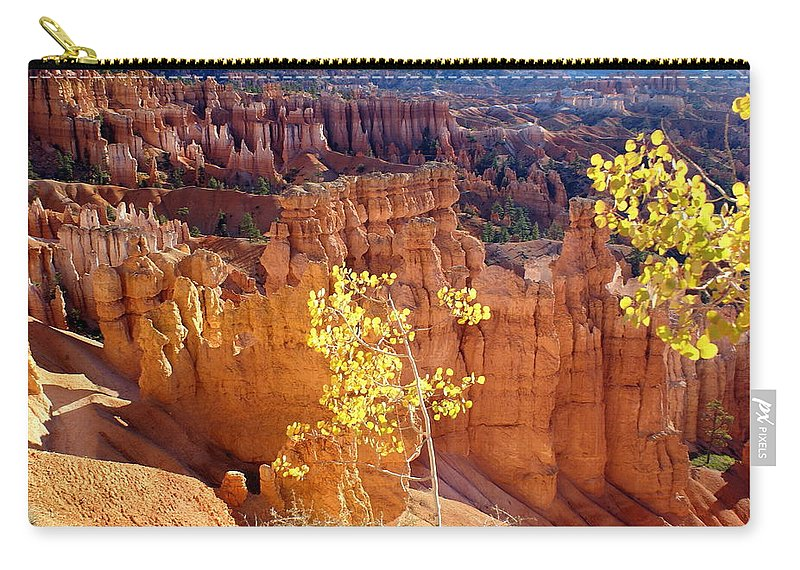 Bryce Canyon National Park Carry-all Pouch featuring the photograph Fall In Bryce Canyon by Marty Koch