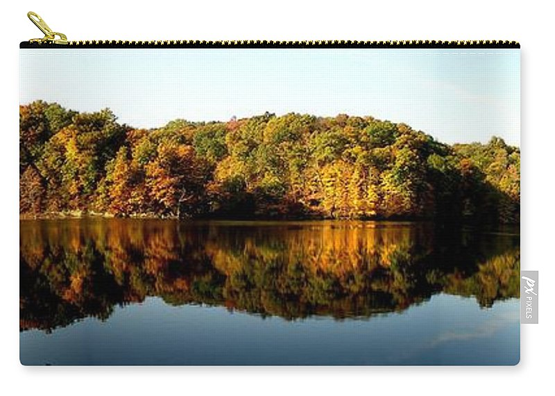 Fall Carry-all Pouch featuring the photograph Fall In Indiana by Carol Milisen