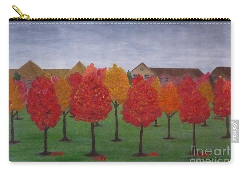 Fall Carry-all Pouch featuring the painting Fall In Markham by Monika Shepherdson