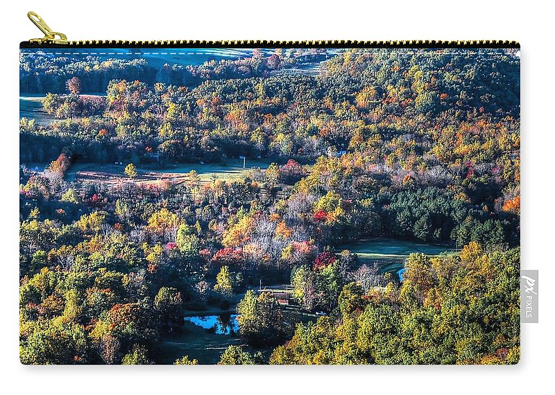 Autumn Carry-all Pouch featuring the photograph Fall In Shenandoah Valley by Ronda Ryan