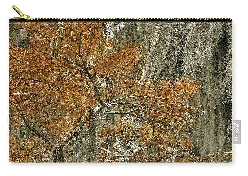 Cedar Carry-all Pouch featuring the photograph Fall In The Swamp by James Ekstrom