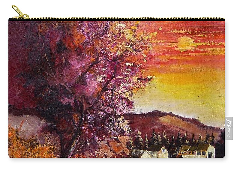 Autumn Carry-all Pouch featuring the painting Fall in Villers by Pol Ledent