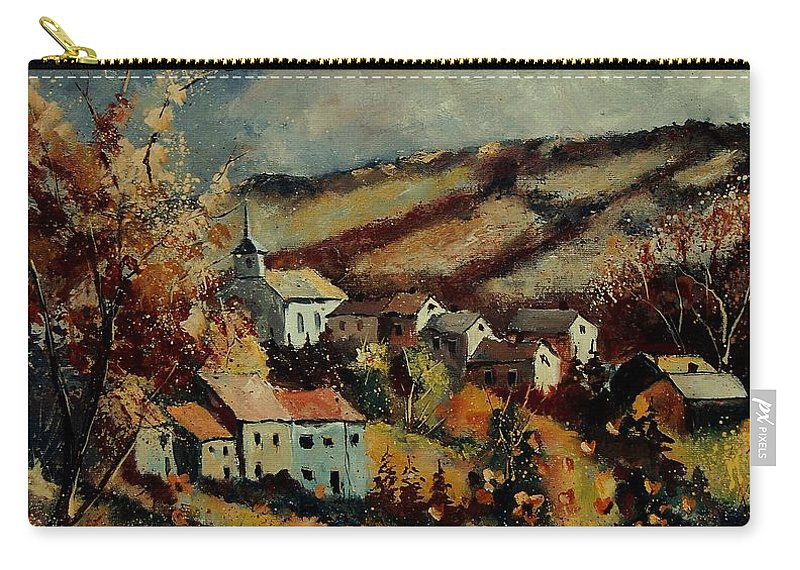 Landscape Carry-all Pouch featuring the painting Fall Landscape 670110 by Pol Ledent