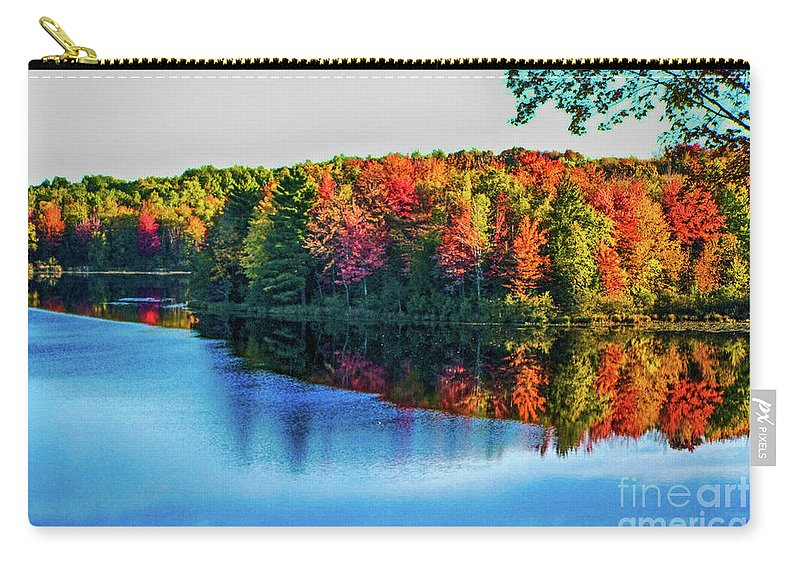 Fall Carry-all Pouch featuring the photograph Fall On The Lake In Wisconsin by Tommy Anderson