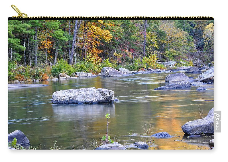 Maury River Carry-all Pouch featuring the photograph Fall On The Maury by Todd Hostetter