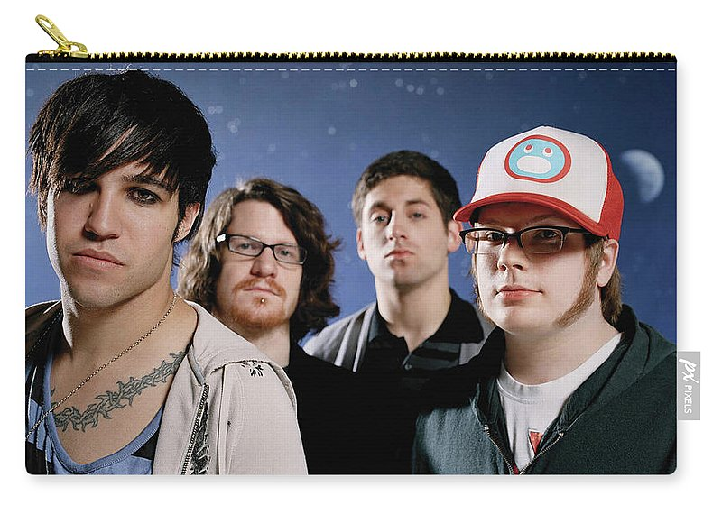 Fall Out Boy Carry-all Pouch featuring the digital art Fall Out Boy by Dorothy Binder