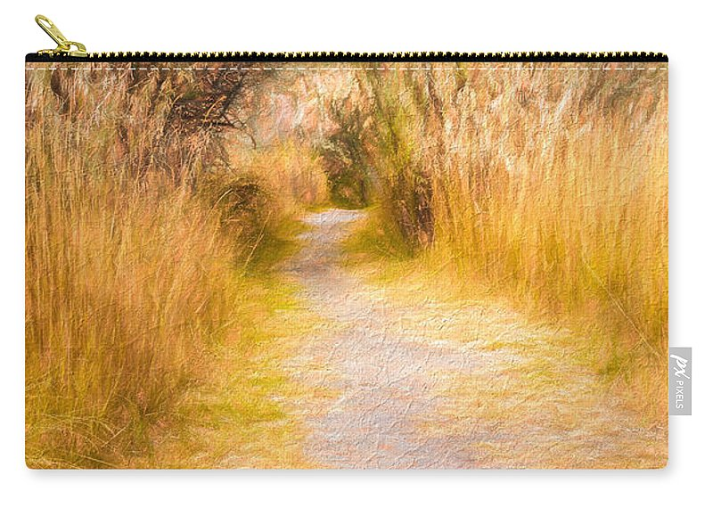 Haynes Point Carry-all Pouch featuring the photograph Fall Pathway 3 by Wendy Elliott