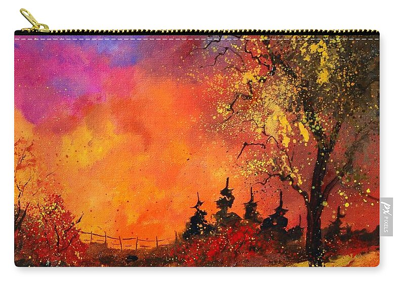 River Carry-all Pouch featuring the painting Fall by Pol Ledent