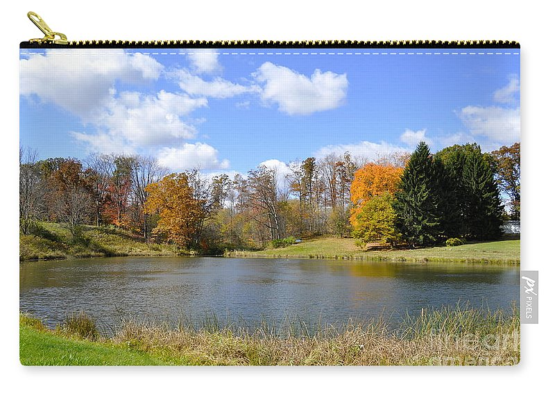 Fall Carry-all Pouch featuring the photograph Fall Pond by Penny Neimiller