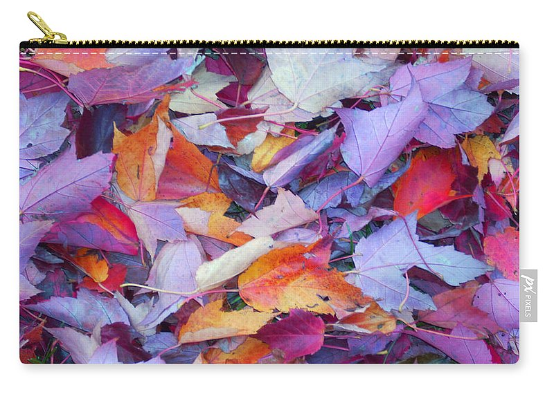 Carry-all Pouch featuring the photograph Fall Purples by Karin Dawn Kelshall- Best