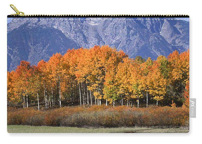 Grand Tetons Carry-all Pouch featuring the photograph Fall Reflection At Oxbow Bend by Sandra Bronstein