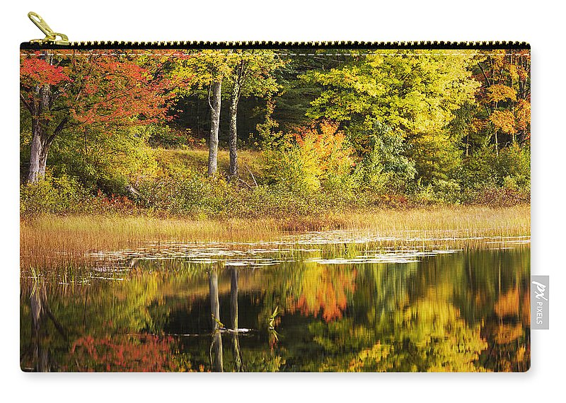 Fall Reflection Carry-all Pouch featuring the photograph Fall Reflection by Chad Dutson