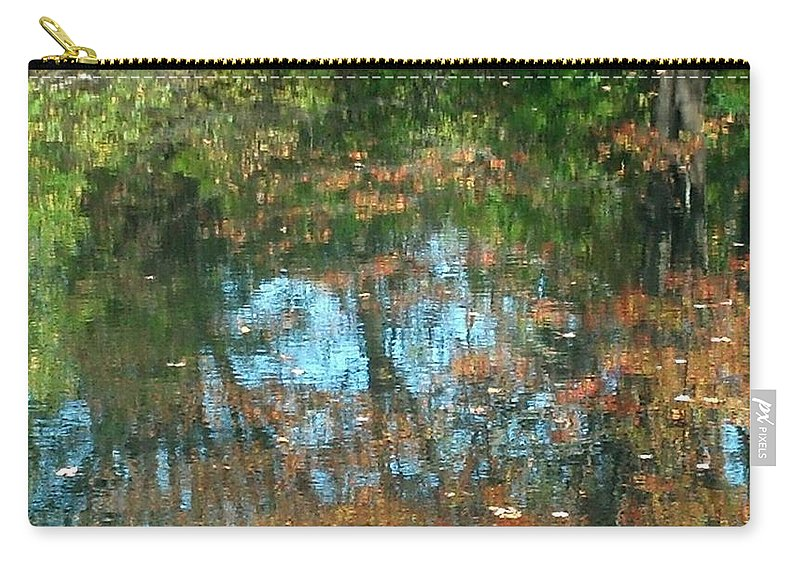 Water Carry-all Pouch featuring the photograph Fall Reflections by Harriet Harding