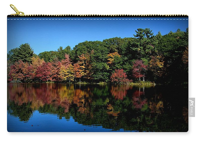 Fall Carry-all Pouch featuring the photograph Fall Reflections by Valerie Cartier