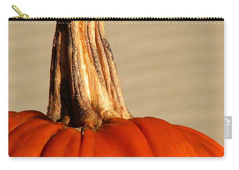 Pumpkin Carry-all Pouch featuring the photograph Fall Rising by Amanda Barcon