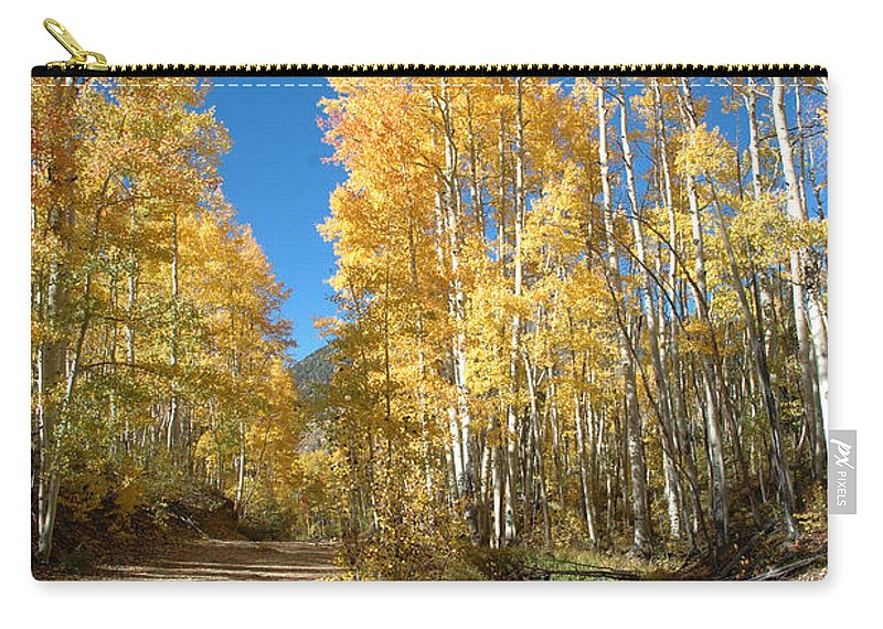 Landscape Carry-all Pouch featuring the photograph Fall Road by Jerry McElroy