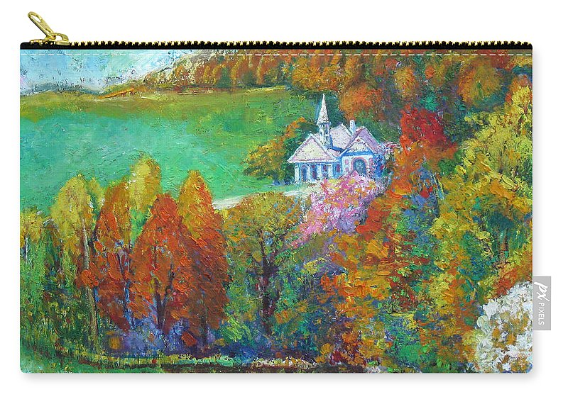 Fall Carry-all Pouch featuring the painting Fall Scene by Meihua Lu