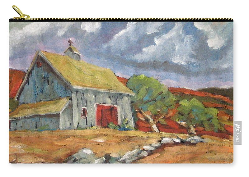 Farm Carry-all Pouch featuring the painting Fall Scene by Richard T Pranke